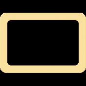 Yellow Cardboard Frame