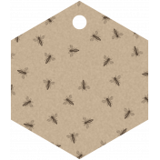 Bee Hexagon Tag