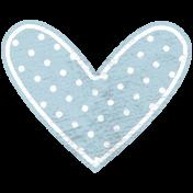 Blue Polka Dot Heart