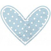 Blue Polka Dot Heart