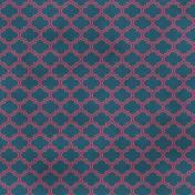Quatrefoil 06 Paper- Blue & Purple