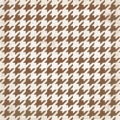 Houndstooth 01 Paper - White & Brown