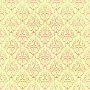 Damask Paper- Yellow & Pink