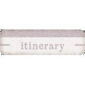 Itinerary Tag