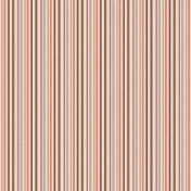 Stripes 83 Paper - Brown & Coral