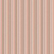 Stripes 83 Paper- Brown & Coral