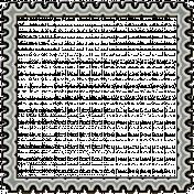 Plastic Stamp Frame- Blue