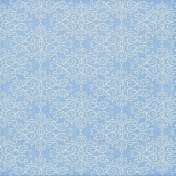Paper 024- Damask- Blue & White