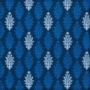 Paper 023- Damask- Blue