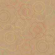 Floral 23 Paper- Tan