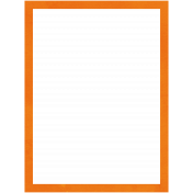 Belgium Frame- Orange