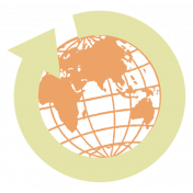 Belgium Globe Sticker