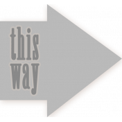 This Way Arrow Tag