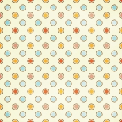 Polka Dots 26 Paper- Orange, Red & Blue