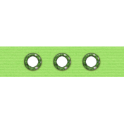 Birthday Paper Scrap- Green