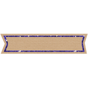 Birthday Banner Tag- Purple