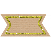 Birthday Banner Tag- Yellow
