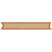 Birthday Banner Tag-Orange