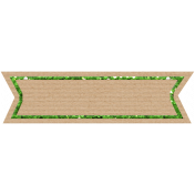 Birthday Banner Tag- Green