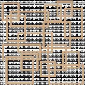 Crazy Squares Cutout Out Shape Mat- Kraft
