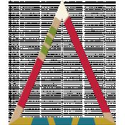 Birthday Kraft Painted Triangle 01