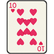 Birthday Journal Card- Playing Card 10