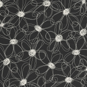 Paper 059- Flowers- Black & White