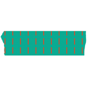 Horizontal Dashes Washi Tape- Green & Orange