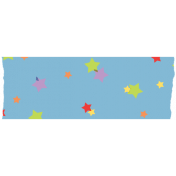 Scattered Stars Washi Tape- Light Blue Background