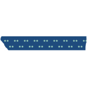 Paired Stars Washi Tape- Blue & Light Blue