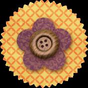Taiwan Paper Flower 10b- Yellow & Purple