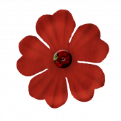 Paper Flower 2- Red