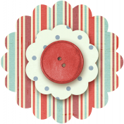 Taiwan Paper Flower 10l- Red Stripes