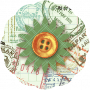 Taiwan Paper Flower 10n- Passport Stamped