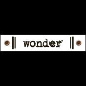 Travel Label- Wonder