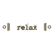Travel Label- Relax