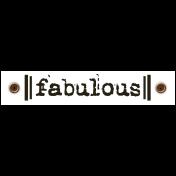 Travel Label- Fabulous