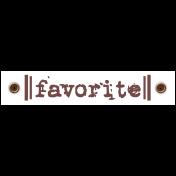 Travel Label- Favorite