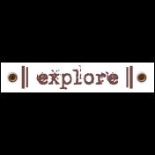 Travel Label- Explore