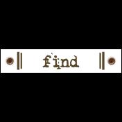 Travel Label- Find