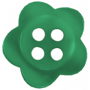 Taiwan Button 57- Green Flower