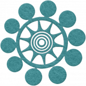 Change Felt Flower- Star Bubble Blue