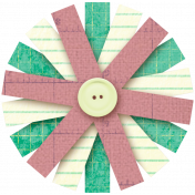 Vietnam Paper Flower 21- Green & Pink