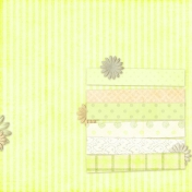 Vietnam Paper Cluster Background- Yellow & Caption Stripes