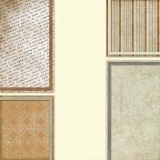 Vietnam Paper Cluster Background- Brown & Cream