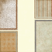 Vietnam Paper Cluster Background- Brown & Cream