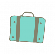 Teal Suitcase Sticker