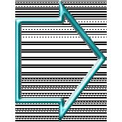 Wide Arrow- Aqua