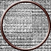 Dino Circle Frame- Bronze