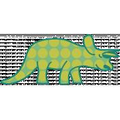 Dinosaurs- Triceratops- Green & Polka Dot